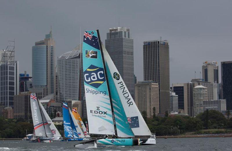 GAC Pindar Team Australia Record First Podium Finish at Sydney Extreme Sailing Series