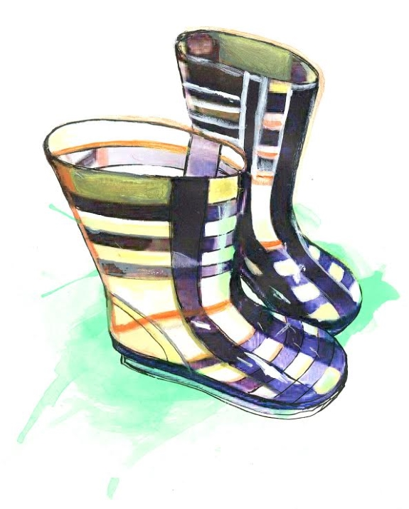 Burberry has its distinctive pattern as featured on these gumboots registered as a trade mark