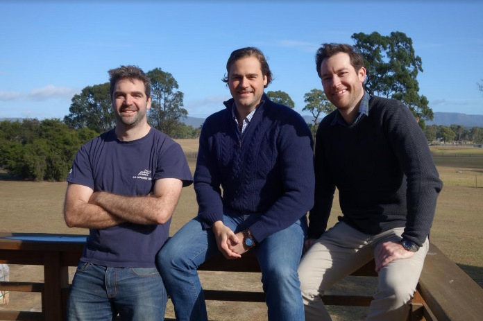 Co-founders, from left to right, Kevin Baum, Justin Webb and John Fargher