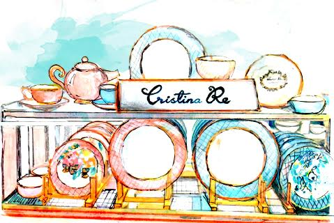 The Cristina Re label named after its creator, Cristina Re, has a registered trade mark for the name in Australia and in other  Countries around the world for crockery,  Stationery and many other goods.